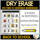 Dry Erase Picture to Sentence Workbook: Back to School