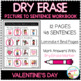Dry Erase Picture to Sentence Workbook: Valentine's Day