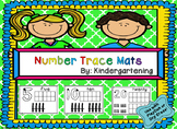 Dry Erase Play Doh Mats 0-20 Number Trace Mats
