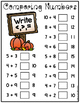 Dry Erase Pocket Pack: Comparing Numbers FALL THEME