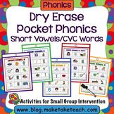 Short Vowels / CVC Words - Dry Erase Pockets Phonics
