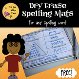 Dry Erase Spelling Mats for Any Spelling Word- ELA Center Activity.