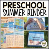 Preschool Summer Dry Erase Learning Binder
