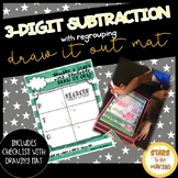 Dry Erase Three-digit Subtraction with Regrouping mat (base 10)