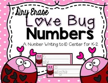 Dry Erase Valentine Number Writing for K-2