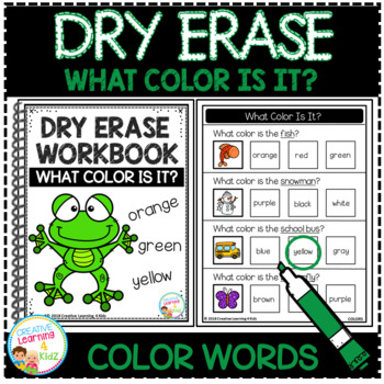 Dry Erase What Color Is It? Workbook: Color Words