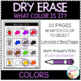 Dry Erase What Color Is It? Workbook: Colors