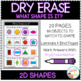Dry Erase What Shape is it? Workbook: 2D Shapes