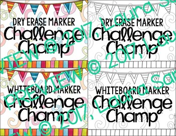 Dry Erase & Whiteboard Marker Challenge - A Classroom Management Tool