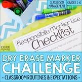 Dry Erase & Whiteboard Marker Challenge - A Classroom Mana