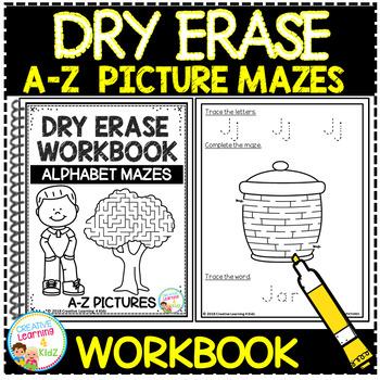 Dry Erase Workbook: A-Z Picture Mazes