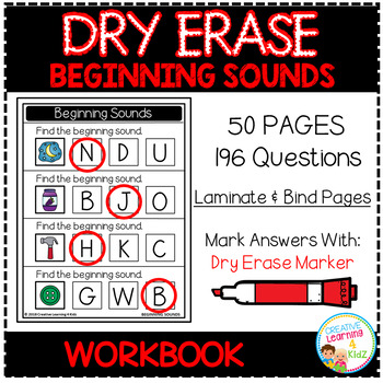 Dry Erase Workbook: Beginning Sounds