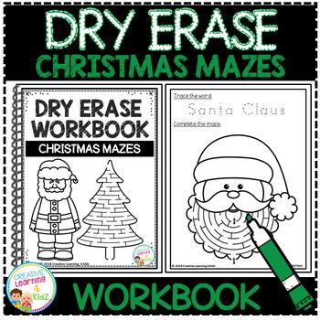 Dry Erase Workbook: Christmas Mazes