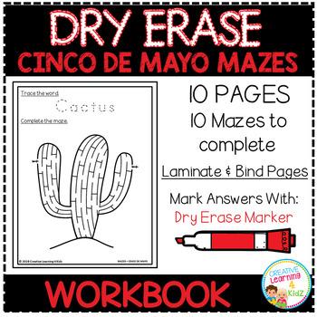 Dry Erase Workbook: Cinco De Mayo Mazes