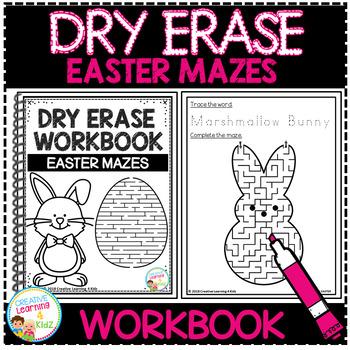 Dry Erase Workbook: Easter Mazes