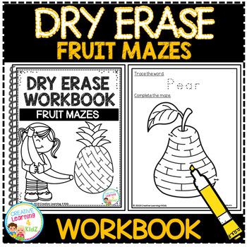 Dry Erase Workbook: Fruit Mazes