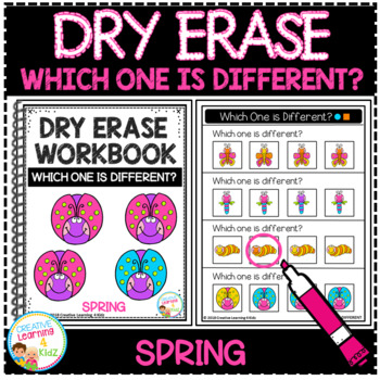 Dry Erase Workbook: Which One is Different - Spring