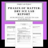 Phases of Matter: Dry Ice Lab Report Exploring Sublimation