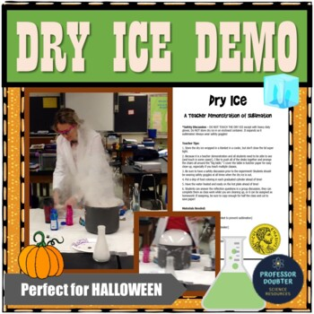 Dry Ice Lesson on Sublimation Teacher Lab Demonstration State Changes