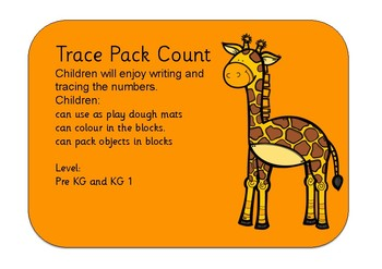 Dry Wipe Trace and count numbers 1 - 10