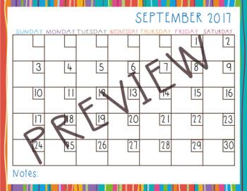 Dry eraser calendar