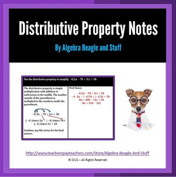 Distributive Property Scaffold Notes
