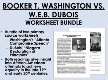 DuBois vs. Washington Document Bundle - US History/APUSH