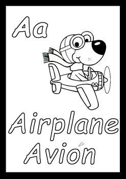 Dual Language Alphabet Worksheets to color