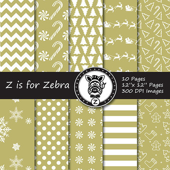 Dual Fill Christmas Digital Paper Pack 1 - CU OK! { ZisforZebra }