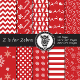 Dual Fill Christmas Digital Paper Pack 4 - CU OK! { ZisforZebra }