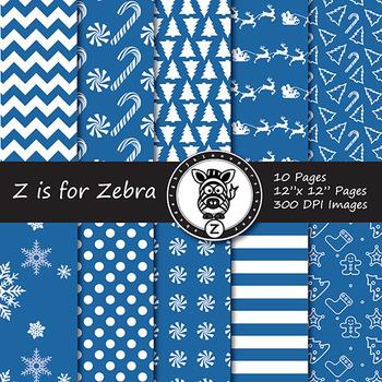 Dual Fill Christmas Digital Paper Pack 6 - CU OK! { ZisforZebra }