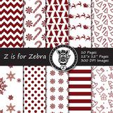 Dual Fill Christmas Digital Paper Pack 7 - CU OK! { ZisforZebra }