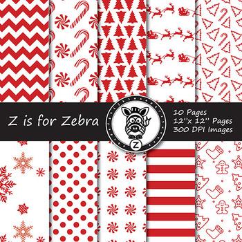 Dual Fill Christmas Digital Paper Pack 8 - CU OK! { ZisforZebra }