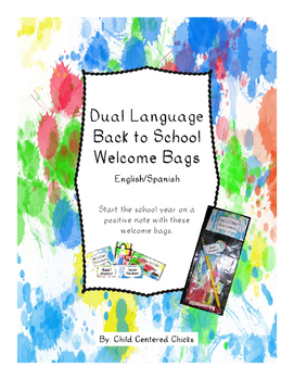 Back to School Welcome Bags Dual Language  - English/Spanish - Ink Spots