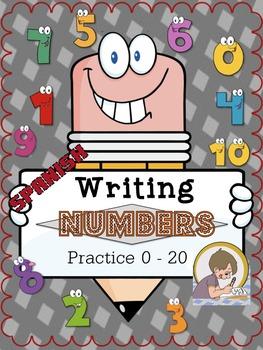 Dual Language Bilingual Number Practice in Spanish