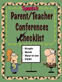 Dual Language Bilingual Parent Teacher Conferences Forms in Spanish