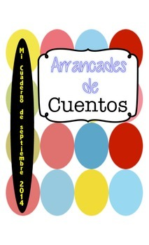 Dual Language Bilingual September Writing Journal in Spanish Story Prompts