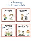 Dual Language Book Basket Labels