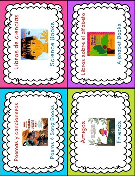 Dual Language Book Bin Labels