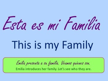 Dual Language Book- Spanish- Our Family-Nuestra Familia