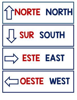 Dual Language Cardinal Directions
