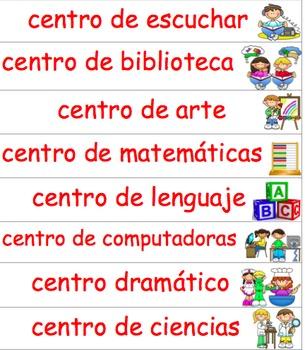 Dual Language Center Signs/Labels