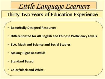 Chinese (Traditional)/English Basic Vocabulary Skills-Dual Language ESL Resource