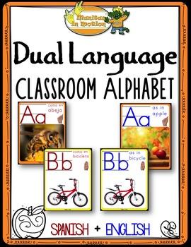 Dual Language - Classroom Alphabet Bilingual version (with photographs)