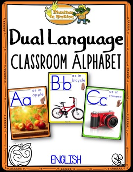 Dual Language - Classroom Alphabet English version (with photographs)