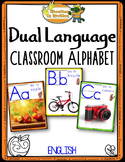 Dual Language - Classroom Alphabet English version (with photographs)