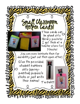 Dual Language Classroom Helpers Kit for a Class Jobs Board Zebra Spanish English