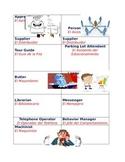 Dual Language - Classroom Job Description Cards in English and Spanish