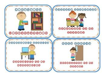 Dual Language Classroom Jobs Chart Labels