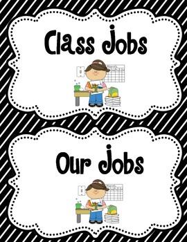 Dual Language Classroom Jobs (Stripes Pack)